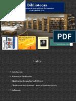 Bibliotecas Clasificacion e Indizacion de de Documentos