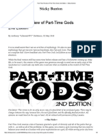 Part-Time Review of Part-Time Gods 2nd Edition