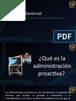 Administración Proactiva y Reactiva
