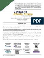 Khula Sizwe Prospectus