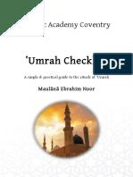 umrah checklist