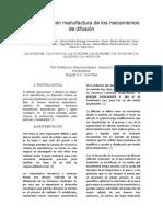 Aplicaciones en Manufactura de Los Mecanismos de Difusión