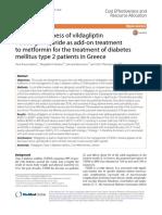 Cost Effectiveness of Vildagliptin Versus Glimepir