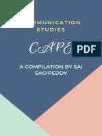 CAPE Communication Studies by Sai Sagireddy