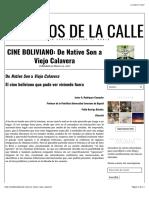 CINE BOLIVIANO - De Native Son a Viejo Calavera - Javier Rodríguez y Pablo Barriga