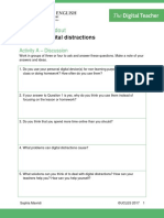 Students Handout Managing Digital Distractions