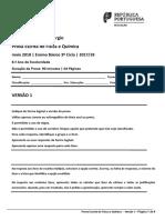 ProvaGlobal FQ v1 8ano 1718