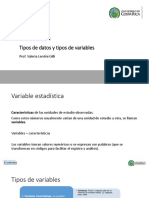 Tipos de datos y variables