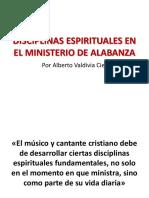 Disciplinas espirituales en el Ministerio de Alabanza