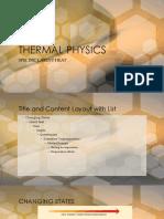 Thermal Physics-latent Heat