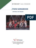 Audition Songbook - Tui Cruises - 180903