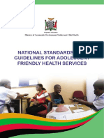 National Standards and Guidelines for Adolescent Friendly Health Services