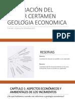 Preparación Del Primer Certamen Geologia Economica