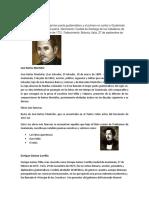 Biografias de personajes de guatemala