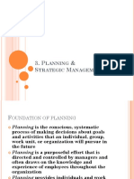 M3. Planning Strategic Management