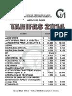 Tarifas2014