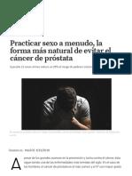 Practicar Sexo a Menudo, La Forma Más Natural de Evitar El Cáncer de Próstata