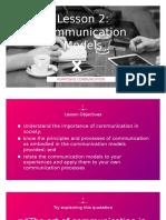 Lesson 2 Models of Communication