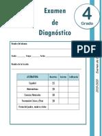4to Grado - Examen de Diagnóstico (2019-2020)