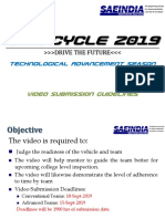 Efficycle 2019-Running Vehicle Video Submission Guidelines for Teams