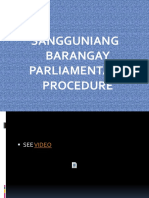 SANG BRGY PARLIAMENTARY   PROCEDURE.ppt