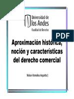 Aproximación histórica, noción y características del derecho comercial
