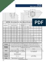 Metric Fasteners - DIN 985 Nylon Insert Stop Nuts - Dimensions