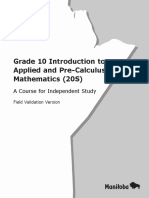 Gr10 Intro Applied Precal