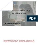 Informes y registros quirúrgicos