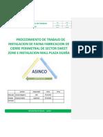 Procedimiento de Trabajo Instalacion de Faena y Fabricacion e Instalacion de Cierre Perimetral Mall Plaza Egaña (2)
