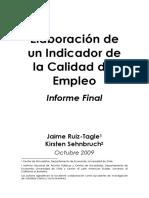 Jaime Ruiz Tagle y Kirsten Sehnbruch Elaboracion en Un Indicador de La Calidad Del Empleo