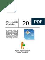 Presupuesto 2019 Para Ciudadano (Obs Incorporadas 270219)