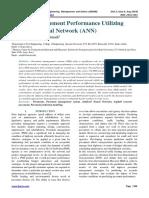 Predicting Pavement Performance Utilizing Artificial Neural Network (ANN)