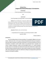 Psicología Clínica y Filosofía