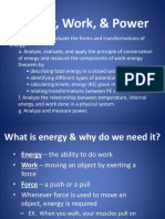 Unit 6 - Energy Work and Power