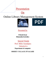 Online library management