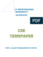 Salary Management System