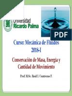 Cap N° 05-Conservación de masa, energía y cantidad de movimiento