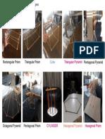 3D Shapes A3 Poster