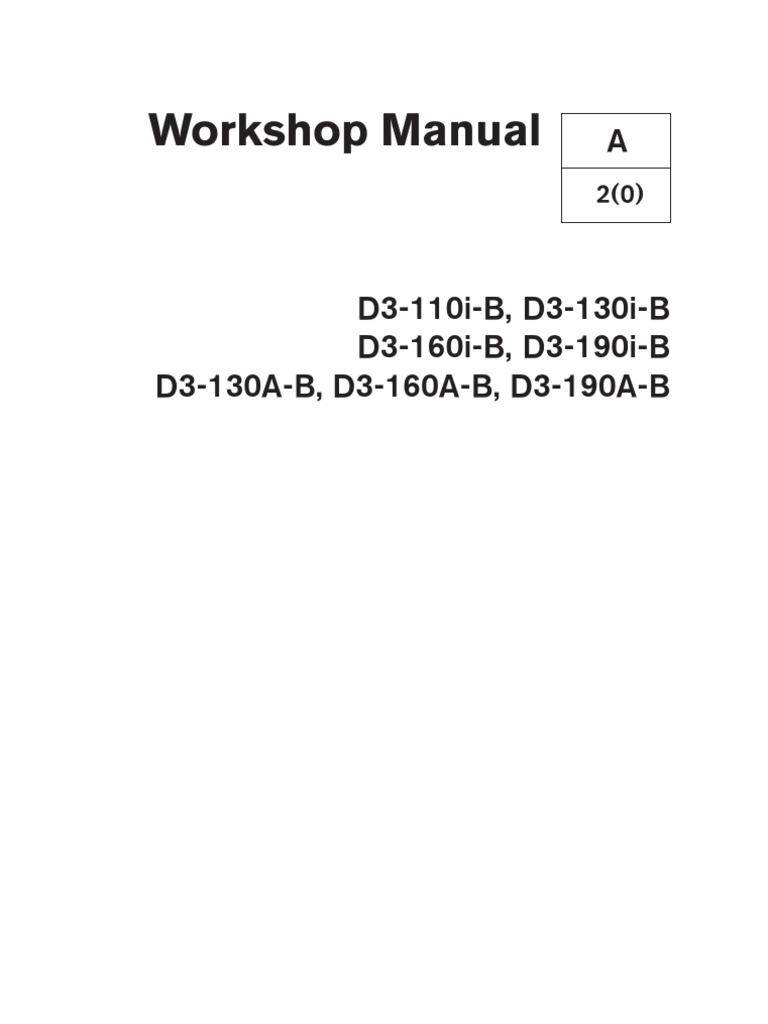 volvo penta d3 workshop manual turbocharger pump  rear of volvo penta 5 7 engine diagram #11