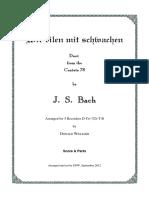 [Free Scores.com] Bach Johann Sebastian Wir Eilen Mit Schwachen 49077