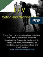 Motion and Machines Unit Part I