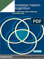 B. V. K. Vijaya Kumar, Abhijit Mahalanobis, Richard D. Juday Correlation Pattern Recognition .pdf