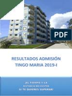 Ingresantes Tm 20191