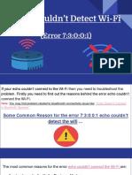 Echo Couldn't Detect Wi-Fi Error 73001.pptx