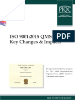 ISO 9001 2015 QMS Key Changes Impacts