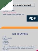 UAE VAT PRESENTATION