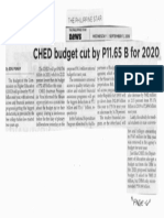 Philippine Star, Sept. 11, 2019, CHED budget cut by P11.65 B for 2020.pdf