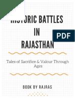 Historic Battles in Rajasthan