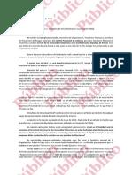 Carta de dimisión de Saúl Iglesias